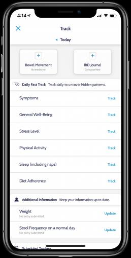 Track IBD with Oshi Health Inflammatory Bowel Disease app
