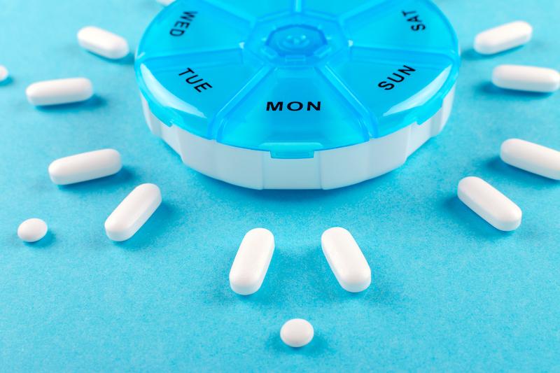 daily pill sorter, anti-inflammatory 5-ASA adherence